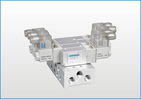 VG系列五通电磁阀(配管型底部)